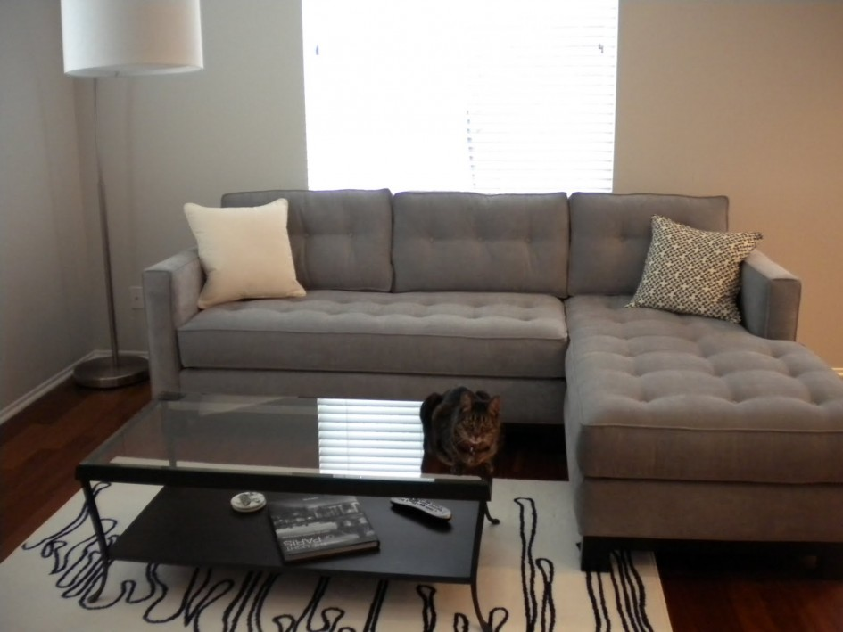Awesome Gray Sectional Sofa Bed Simple Brown Sectional Sofa Bed Simple White Wall Floor Lamp