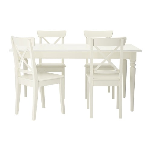 Awesome Ikea Furniture Dining Chairs Ingatorp Ingolf Table And 4 Chairs Ikea