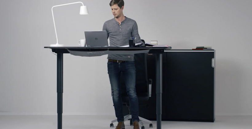 Awesome Ikea Raised Desk This New Ikea Desk Goes From Sit To Stand With The Push Of A