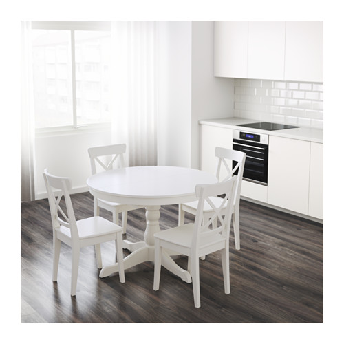 Awesome Ikea Round Dining Table Ingatorp Extendable Table Ikea
