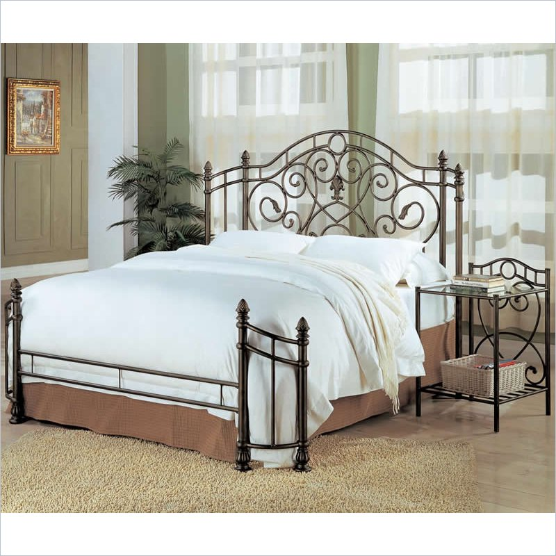 Awesome Iron Head And Footboards Metal Headboard And Footboard Home Improvement 2017