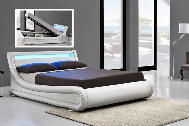 Awesome King Size Bed Base Ottoman King Size Bed Base With Led Lights And Remote Never