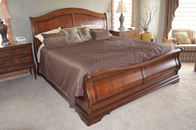 Awesome King Size Sleigh Bed Frame Sleigh Beds King For Modern Bedroom Home Decor And Furniture
