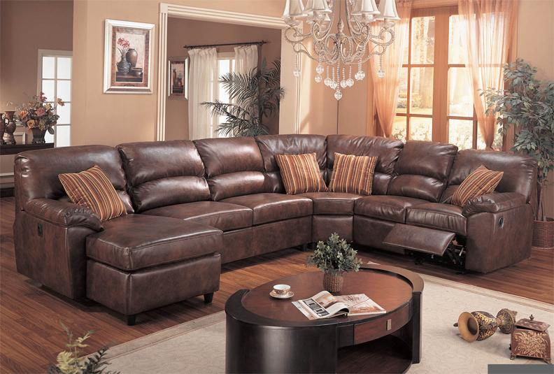 Awesome L Shaped Sectional Sofa With Recliner Brown Leather Sectional Sofa With Recliners Plushemisphere