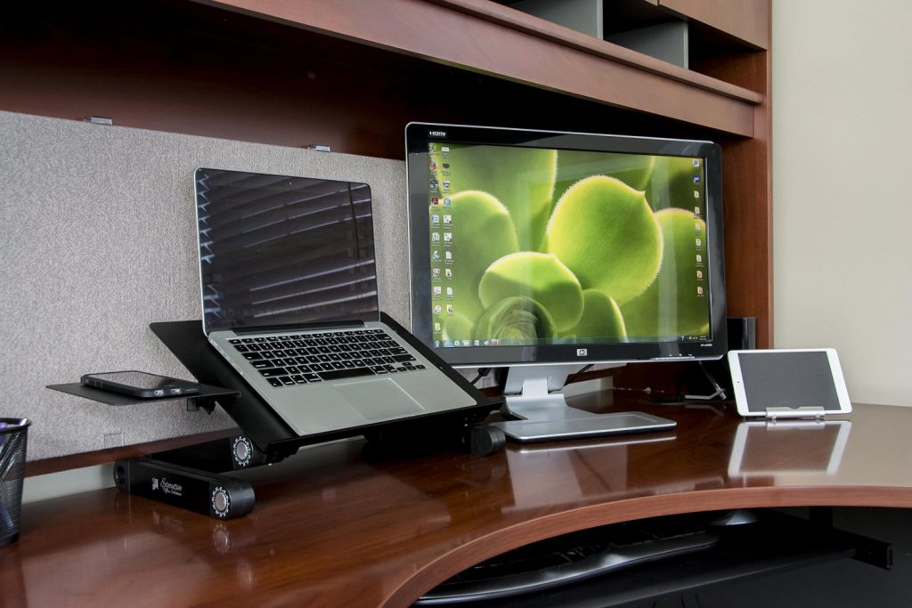 Awesome Laptop Desk Setup Executive Office Solutions Adjustable Aluminum Laptop Stand
