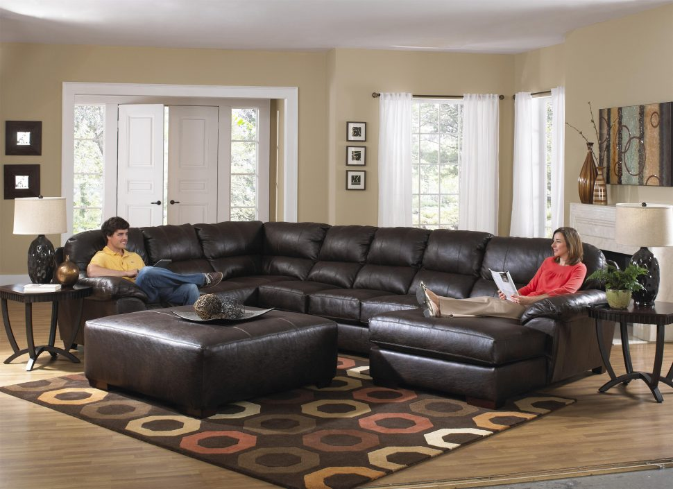 Awesome Large Microfiber Sectional Couch Sofas Magnificent Big Sectional Couch Small Leather Sectional