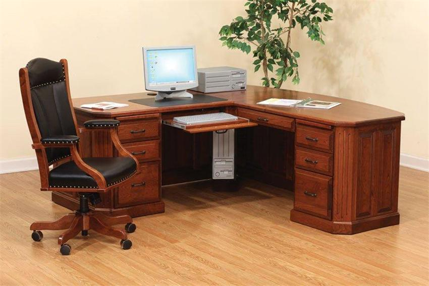 Awesome Large Wooden Office Desk Corner Home Office Desks Crafts Home
