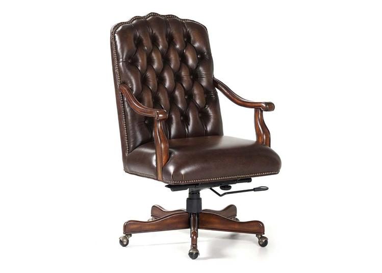 Awesome Leather Executive Chair Brown Leather Tufted Camel Back Executive Chair With Brass Nails