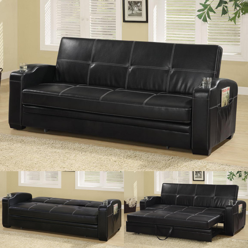 Awesome Leather Pull Out Sofa Bed Sofa Graceful Pull Out Sofa Bed With Storage Faux Soft Leather