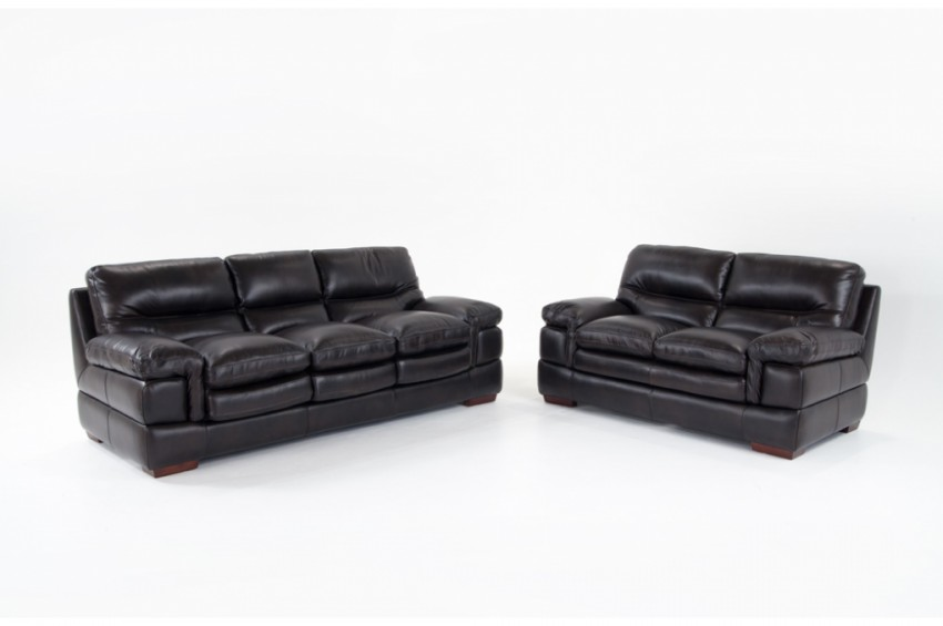 Awesome Leather Sofa And Loveseat Carter Leather Sofa Loveseat Bobs Discount Furniture