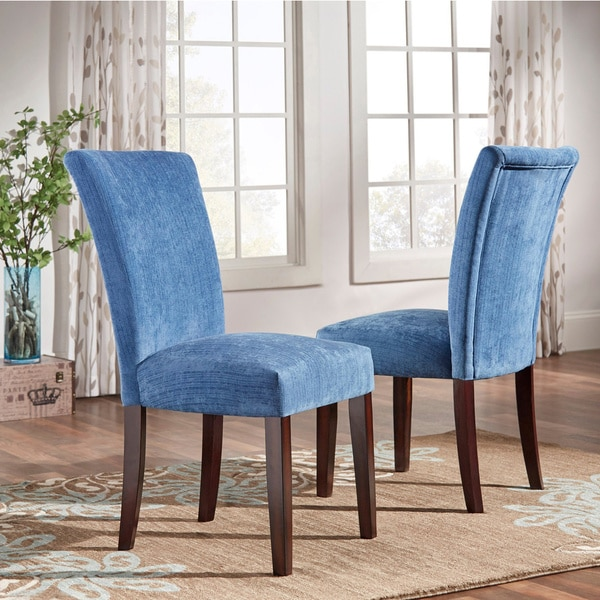 Awesome Light Blue Upholstered Dining Chairs Parson Classic Upholstered Dining Chair Set Of 2 Inspire Q