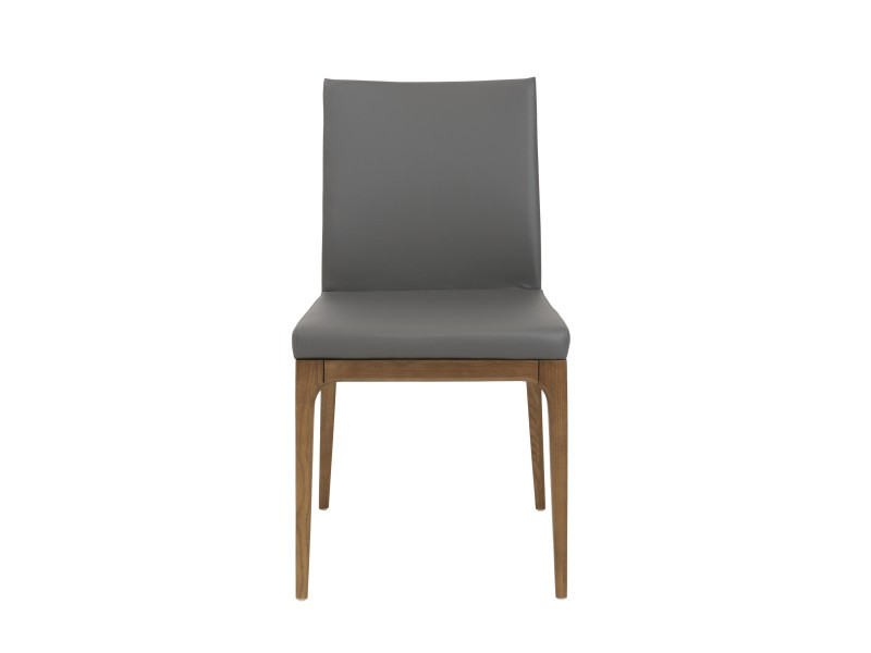 Awesome Low Back Dining Chairs Eurostyle Sully Low Back Dining Chair In Gray Leatherette Wwalnut