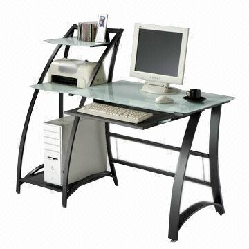 Awesome Metal Computer Desk Computer Desk Glass Desk Top Metal Tube Frame Global Sources