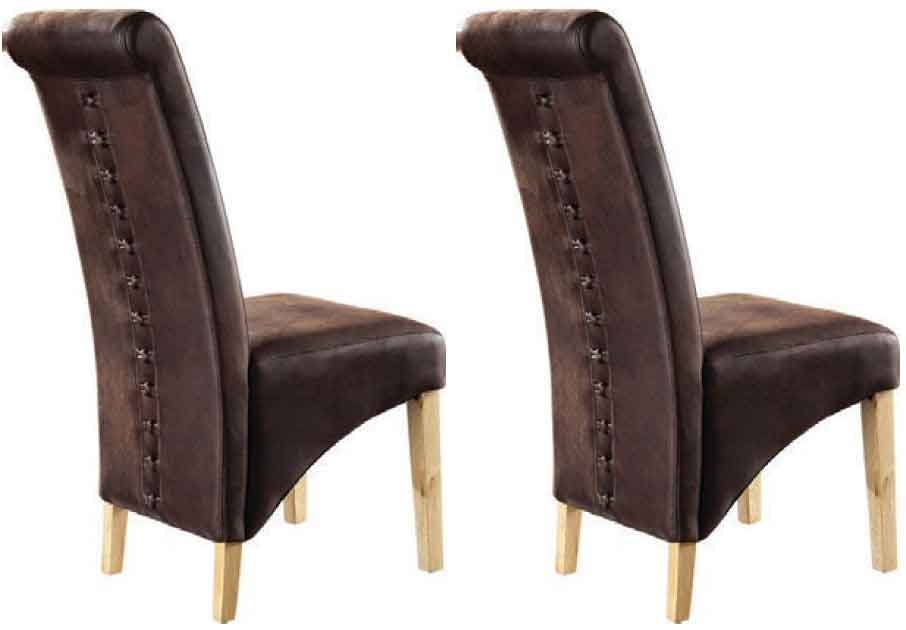Awesome Microfiber Dining Chairs Buy Tcs Downham Oak Dining Chair Microfiber Brown Pair Online