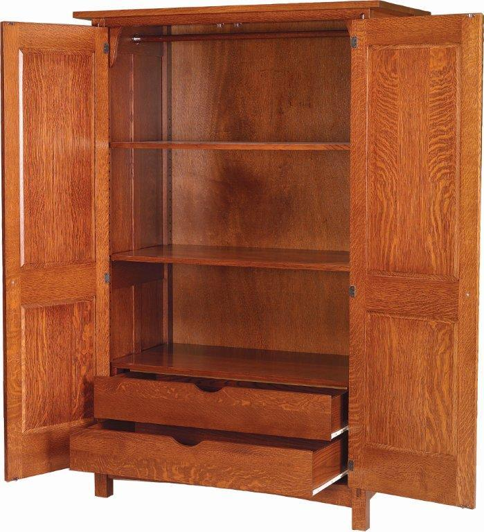 Awesome Mission Style Armoire Wardrobe Amish Post Reproduction Mission Armoire
