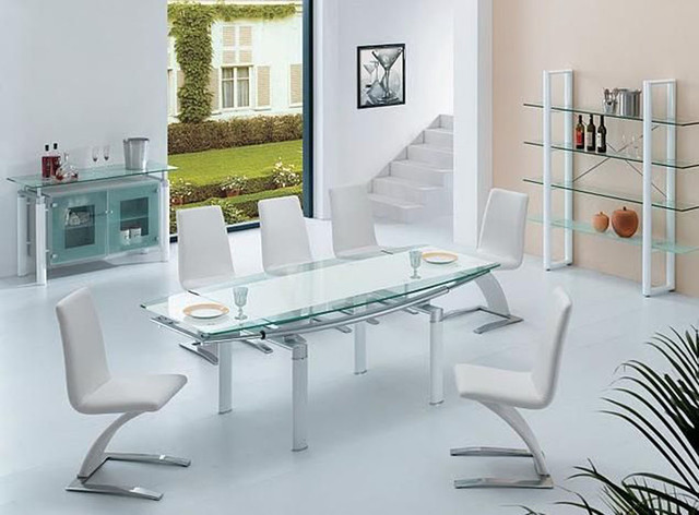 Awesome Modern Glass Dining Room Sets Modern Glass Dining Room Tables Inspiring Good Dining Room