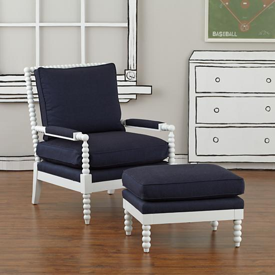 Awesome Navy Chair And Ottoman Lind Navy Chair And Ottoman