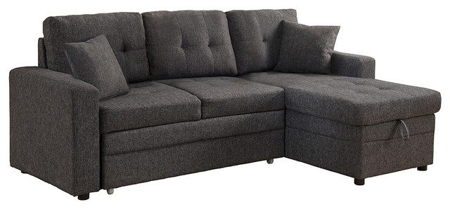 Awesome Pull Out Sleeper Couch Darwin Sectional Sofa With Storage And Pull Out Bed Contemporary