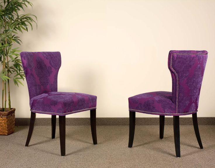 Awesome Purple Dining Chairs Turquoise Blue Velvet Damask Furniture Parsons Leather Chairs