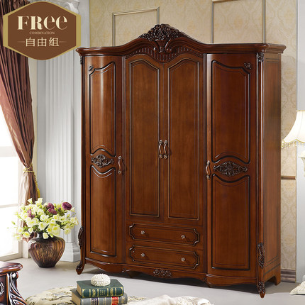 Awesome Real Wood Wardrobe Closets Buy Solid Wood Wardrobe Closet Four American Country Oak Wood