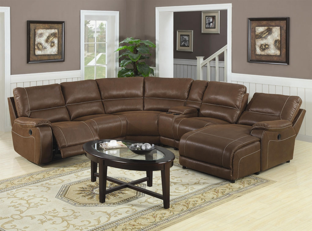 Awesome Reclining Sofa With Chaise Lounge Small Sectional Sofa With Chaise Lounge Inspiring Brown Leather 2