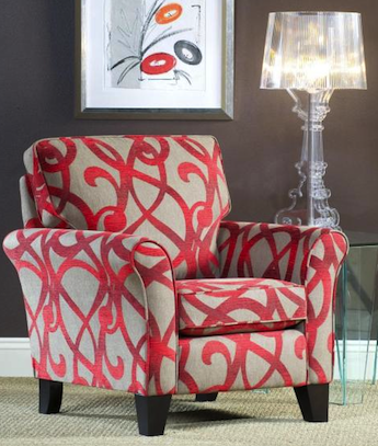 Awesome Red And Grey Accent Chair Adorable Red Accent Chair With Geometric Patterned Accent Chair