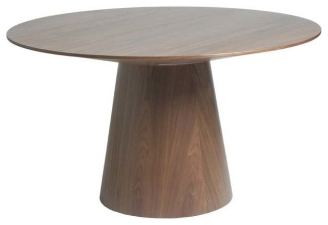 Awesome Round Table Wood Eurostyle Wesley Round Wood Dining Table In Walnut Modern