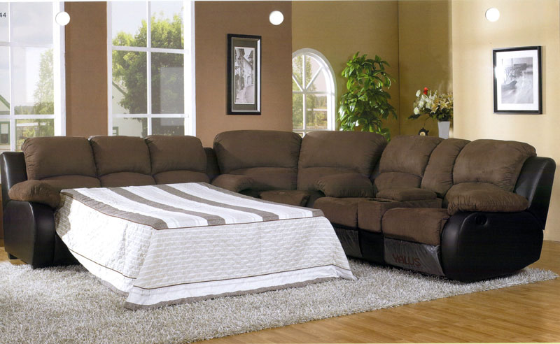 Awesome Sectional Sleeper Sofa With Recliners Impressive Microfiber Sectional Sleeper Sofa Awesome Home Design