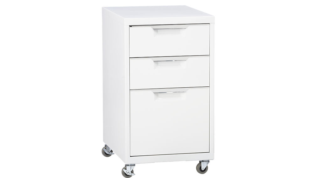 Awesome Shallow File Cabinet Tps 3 Drawer White File Cabinet Cb2