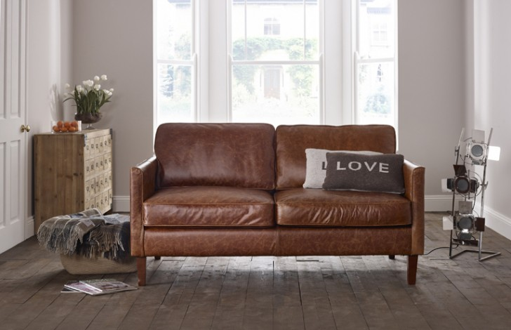 Awesome Small Brown Leather Sofa Small Leather Sofas For Small Rooms Tags Small Leather Sofa