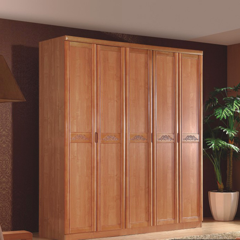 Awesome Solid Wood Wardrobe Closet Wood Wardrobe Closet Four Rubber Wood Oak Modern Chinese Style