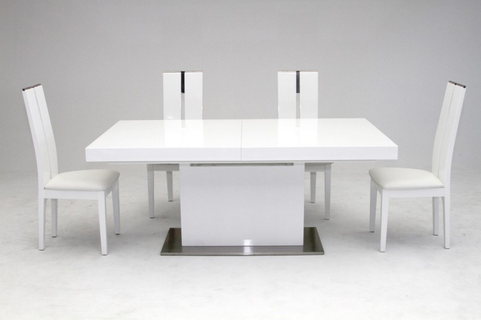 Awesome Square White Dining Table Dining Room Modern White Dining Table Design With Rectangular