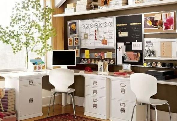 Awesome Two Desk Office Ideas 20 Space Saving Office Designs With Functional Work Zones For Two