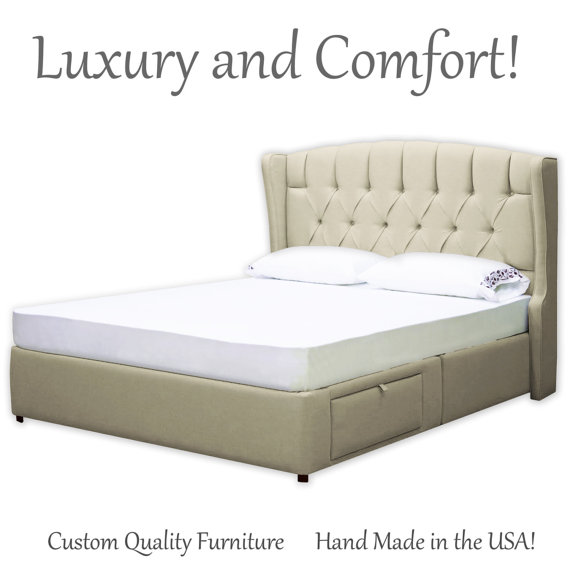 Awesome Upholstered Bed Frame With Drawers Bed Frame Queen Bed Frame King Bed Frame Captains