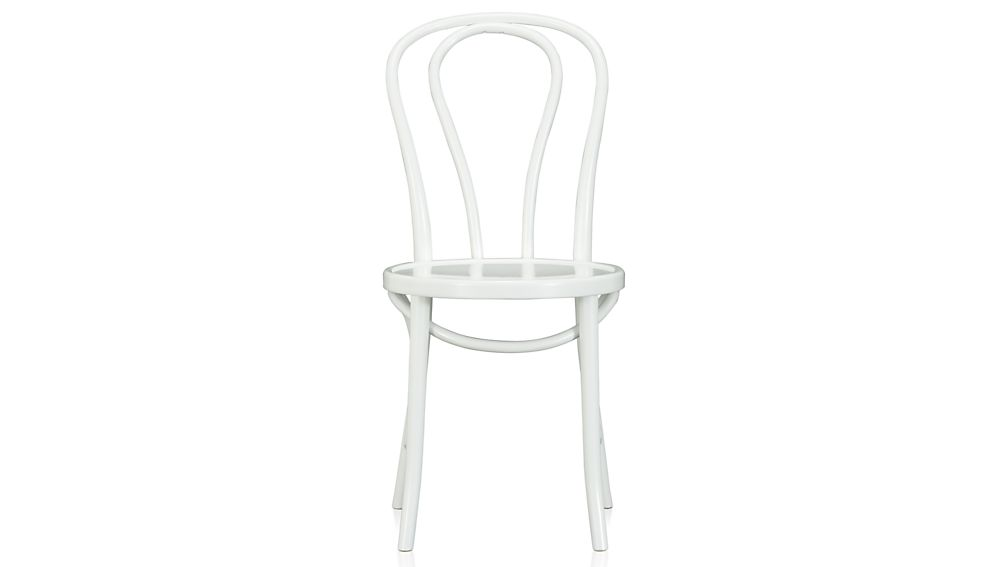 Awesome White And Wood Dining Chairs Vienna White Wood Dining Chair And Cushion Crate And Barrel