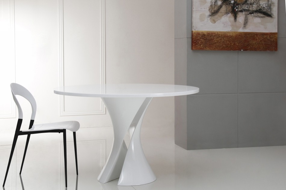 Awesome White Lacquer Dining Table Modern Modern White Lacquer Round Dining Table