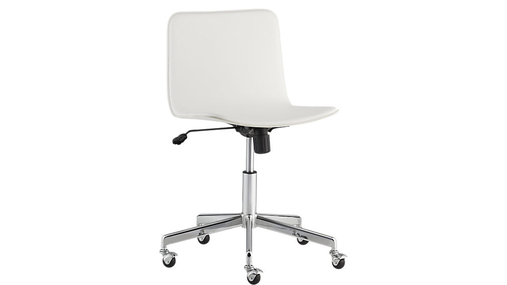 Awesome White Office Chair Form Faux White Leather Office Chair Cb2