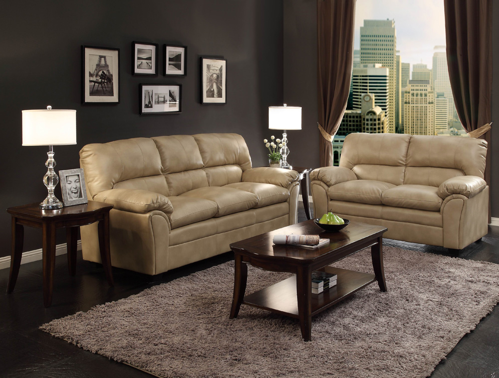 Beautiful 2 Piece Leather Living Room Set Homelegance Talon 2 Piece Living Room Set In Taupe Leather