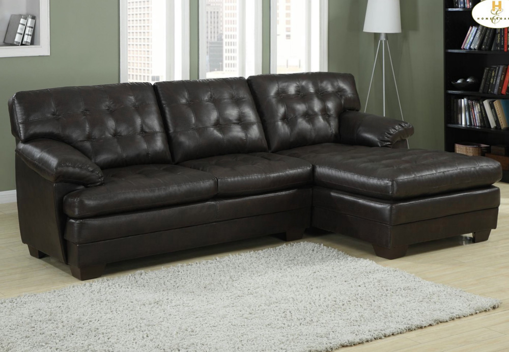 Beautiful 2 Piece Sectional Couch Homelegance Brooks 2 Piece Sectional Sofa In Rich Dark Brown Leather