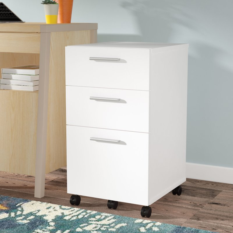 Beautiful 3 Drawer Lockable Filing Cabinet Wood Filing Cabinets Youll Love