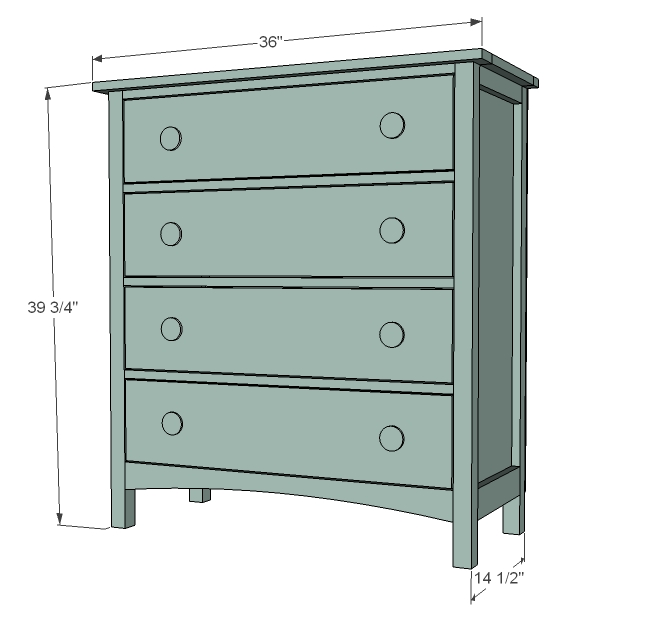 Beautiful 36 Inch Chest Of Drawers Ana White Patricks Beach Cottage Dresser Diy Projects