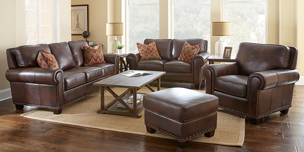 Beautiful 4 Piece Leather Living Room Set Atwood Costco