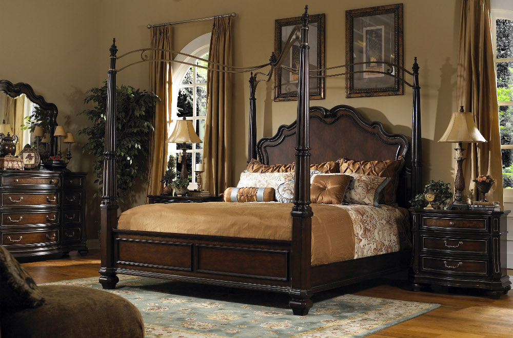 Beautiful 4 Poster Cal King Bed The Luxury Design Of The Cal King Bedroom Sets All Home Design