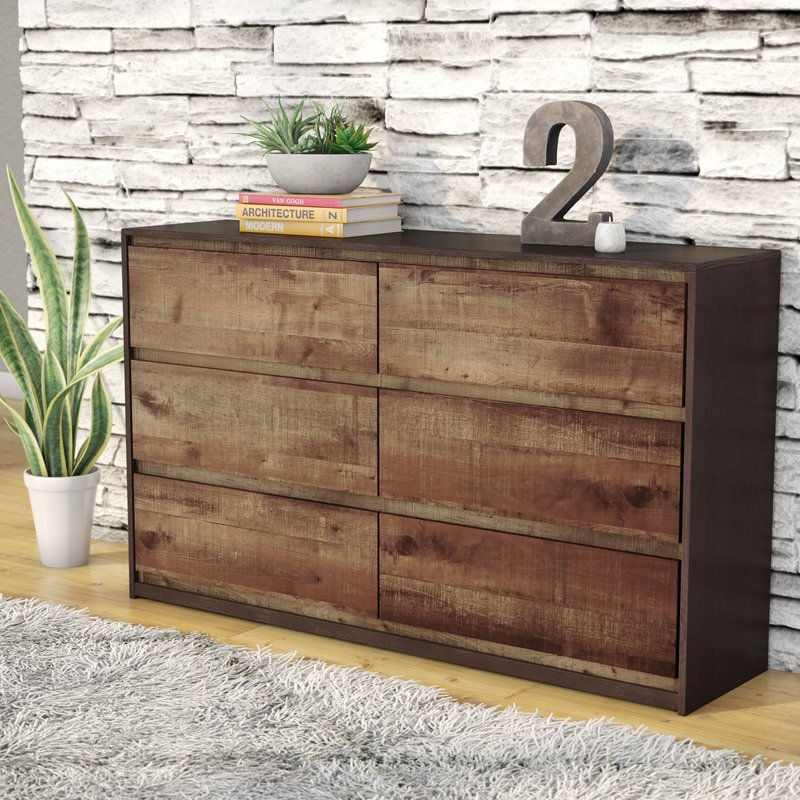 Beautiful 6 Drawer Chest Of Drawers Trent Austin Design Taumsauk 6 Drawer Dresser Reviews Wayfair