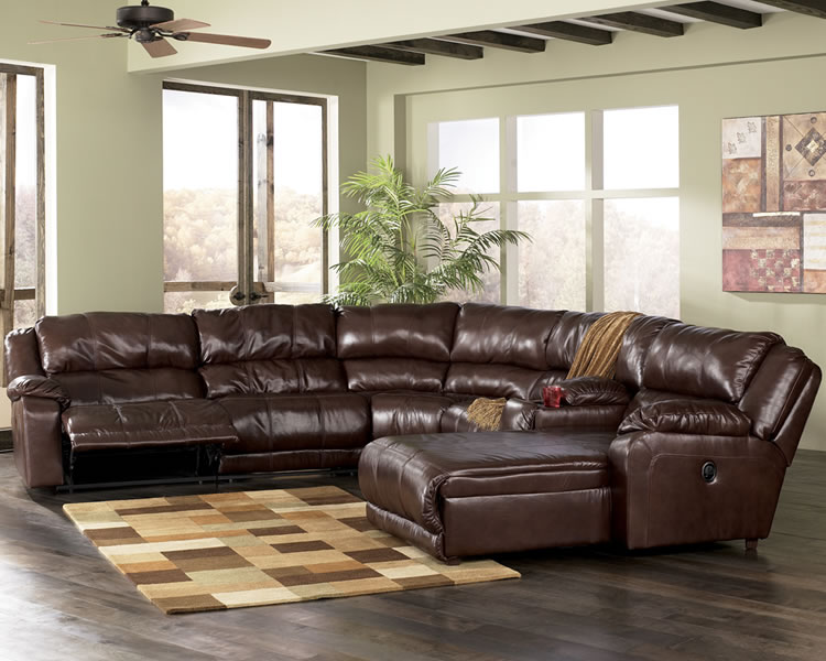 Beautiful Ashley Furniture Black Leather Couch Presenting The More Exclusive Living Room With Ashley Leather