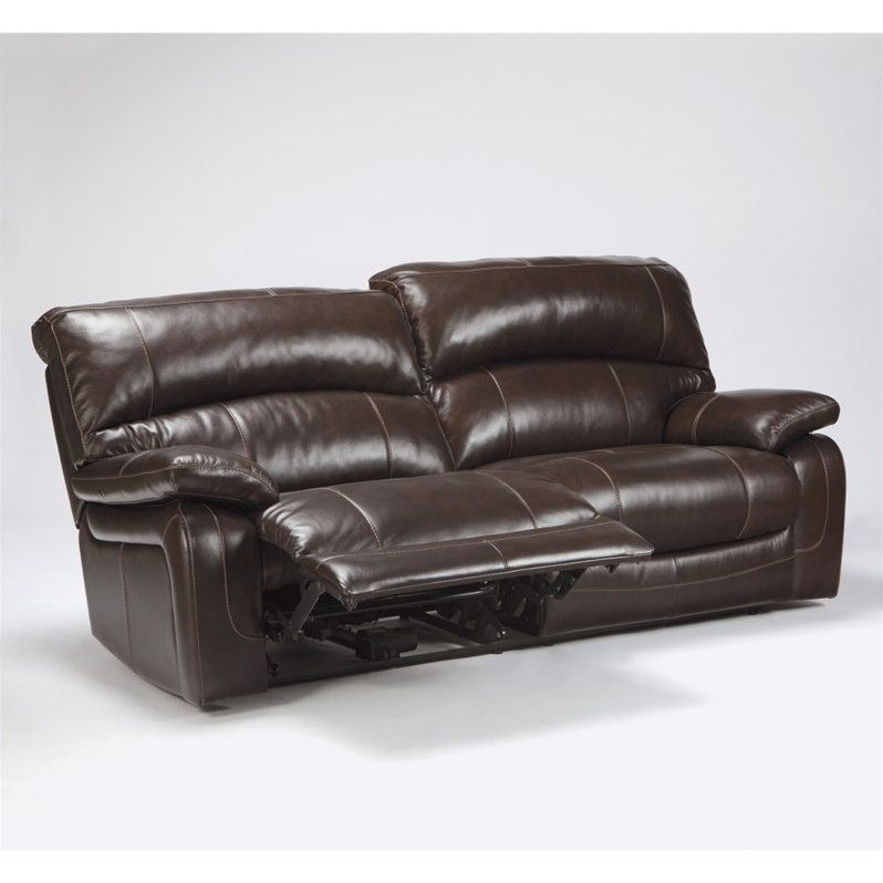 Beautiful Ashley Furniture Leather Recliners Ashley Furniture Damacio Leather Power Reclining Sofa In Dark