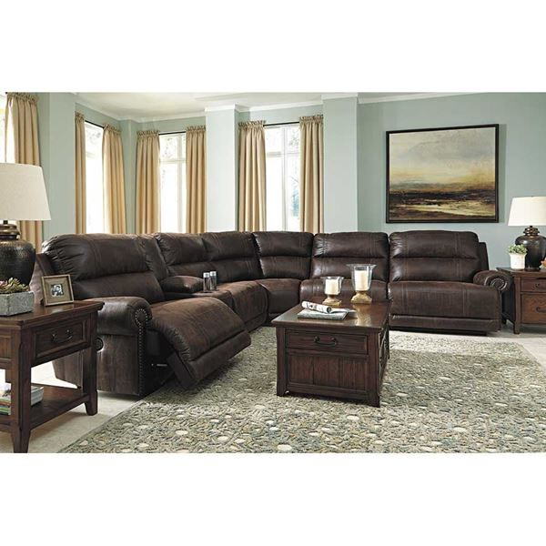Beautiful Ashley Furniture Microfiber Sectional 6 Piece Power Reclining Sectional Z 931 6pc Ashley Furniture Afw