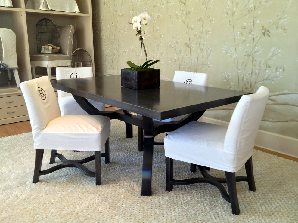 Beautiful Black And Cream Dining Chairs Low Back Dining Chairs Dining Room Traditional With Banquette