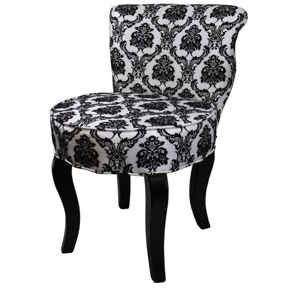 Beautiful Black And White Accent Chair 31h French Blackwhite Damask Accent Chair Free Shipping Today