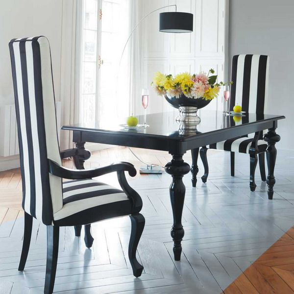 Beautiful Black And White Dining Chairs Dining Chairs Black And White